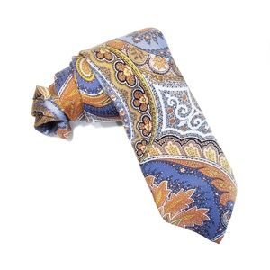 Long Adult Lands End Silk Neck Tie Floral Fall